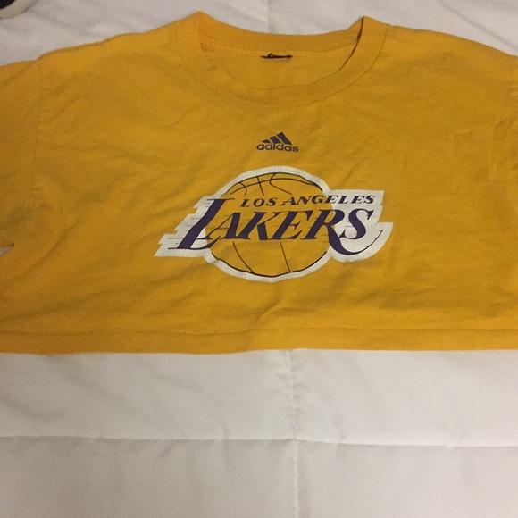 detailed look 3db49 2c318 Los Angeles Lakers Adidas Crop Top